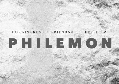 Philemon: Step #1 to Forgiveness