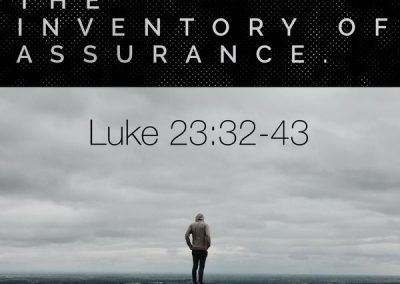 The Inventory of Assurance: Luke 23:32-43